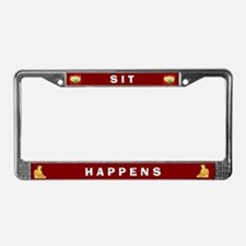 Sit Happens #1 License Plate Frame