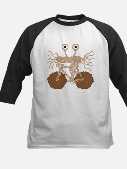 Flying Spaghetti Monster On Bike W Baseball Jersey