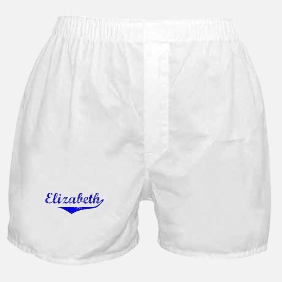 Elizabeth Vintage (Blue) Boxer Shorts