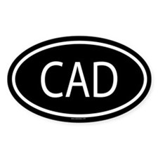 CAD Oval Bumper Stickers