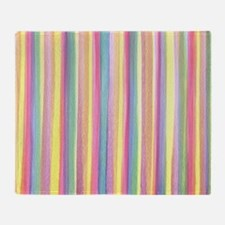 Watercolor Stripes Throw Blanket