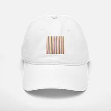 Watercolor Stripes Baseball Baseball Baseball Cap