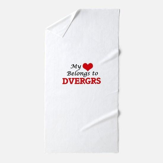 My Heart Belongs to Dvergrs Beach Towel