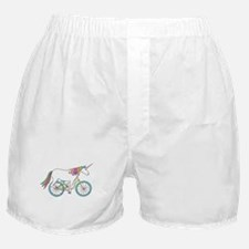 Unicorn Riding Bike Boxer Shorts