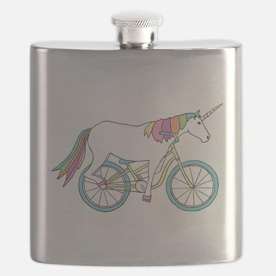 Unicorn Riding Bike Flask