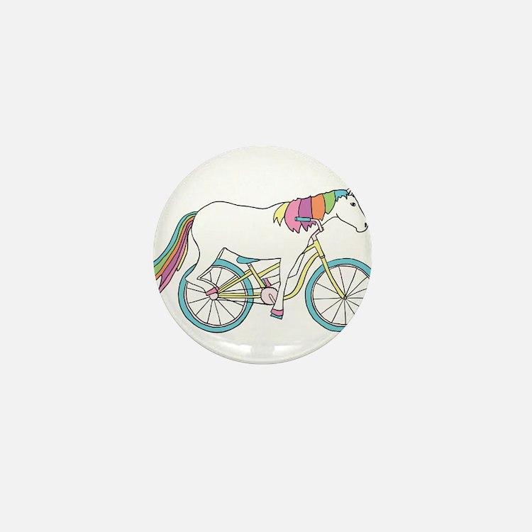 Unicorn Riding Bike Mini Button (10 pack)