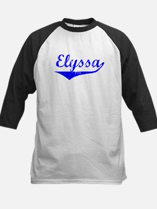 Elyssa Vintage (Blue) Kids Baseball Jersey