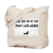 TG Mommy Loves Wieners Dachshund Tote Bag