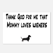 TG Mommy Loves Wieners Dachshund Postcards (Packag