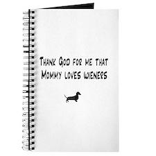 TG Mommy Loves Wieners Dachshund Journal