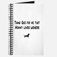 TG Mommy Loves Wieners Dachshund Journal