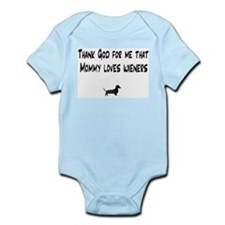 TG Mommy Loves Wieners Dachshund Infant Bodysuit
