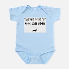 TG Mommy Loves Wieners Dachshund Infant Bodysuit