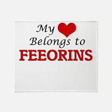 My Heart Belongs to Feeorins Throw Blanket