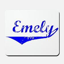 Emely Vintage (Blue) Mousepad