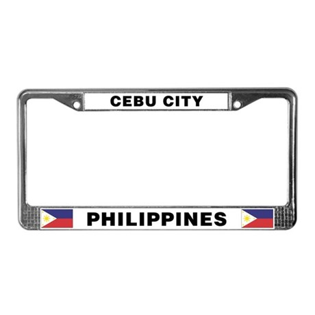 Cebu City Philippines License Plate Frame by flipsidegear