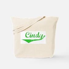 Cindy Vintage (Green) Tote Bag