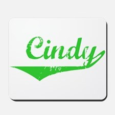 Cindy Vintage (Green) Mousepad