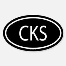 CKS Oval Decal