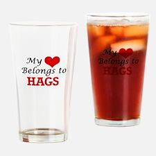 My Heart Belongs to Hags Drinking Glass