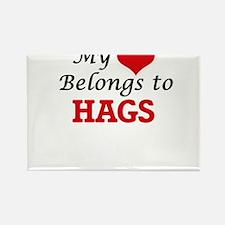 My Heart Belongs to Hags Magnets