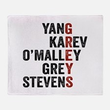 Grey's Anatomy Vertical. Throw Blanket