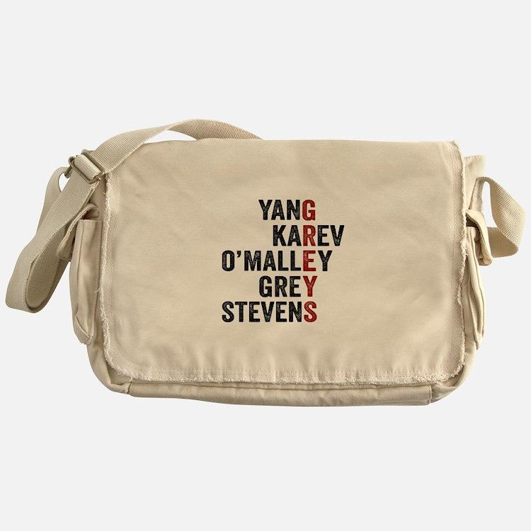 Grey's Anatomy Vertical. Messenger Bag