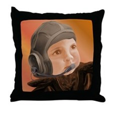 Baby Aviator Copper Sunset Throw Pillow
