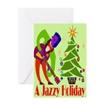 Jazz Christmas Art Greeting Card
