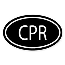 CPR Oval Decal