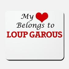 My Heart Belongs to Loup Garous Mousepad