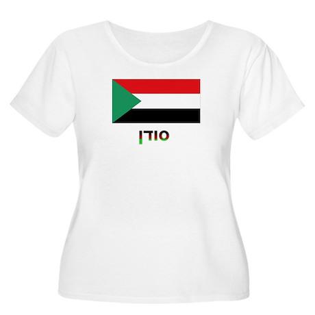 Sudan Women's Plus Size Scoop Neck T-Shirt