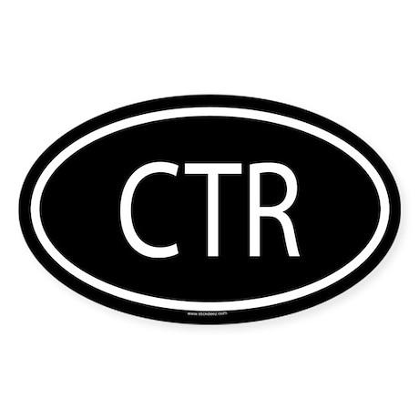 CTR Oval Sticker