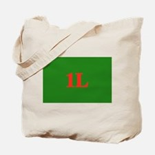 1L Green/Red Tote Bag