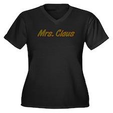 Mrs. Claus Women's Plus Size V-Neck Dark T-Shirt