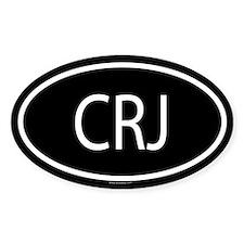 CRJ Oval Decal