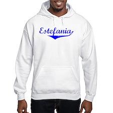 Estefania Vintage (Blue) Hoodie Sweatshirt