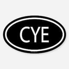 CYE Oval Decal