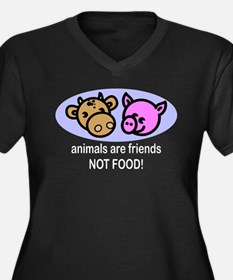 Animals Are Friends Not Food transparent Plus Size