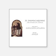 st. thomas aquinas, patron saint of teache Sticker