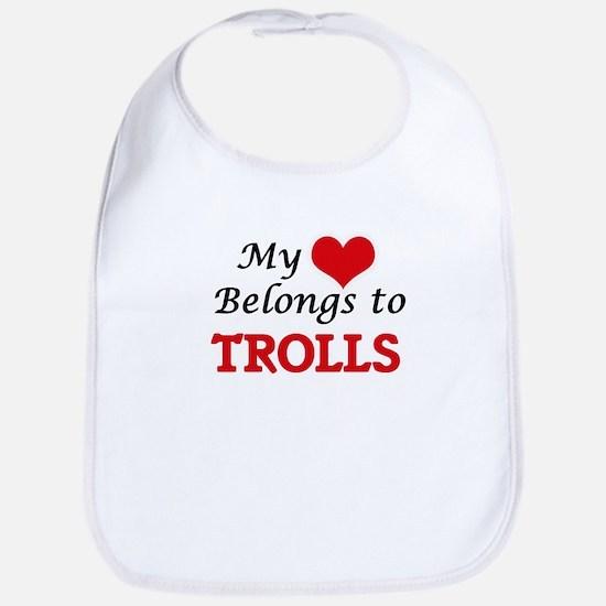 My Heart Belongs to Trolls Bib