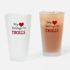 My Heart Belongs to Trolls Drinking Glass