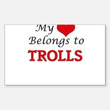 My Heart Belongs to Trolls Decal