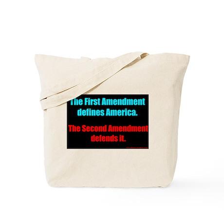Defines, Defends Tote Bag