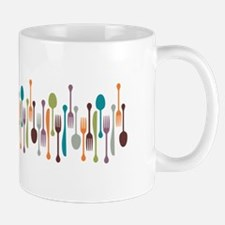 Silverware Border Mugs
