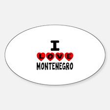 I Love Montenegro Sticker (Oval)