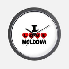 I Love Moldova Wall Clock