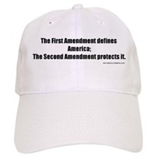 Defines, Defends Baseball Cap