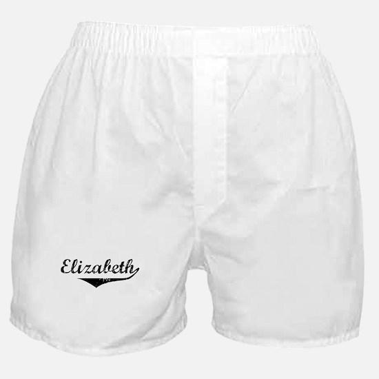 Elizabeth Vintage (Black) Boxer Shorts
