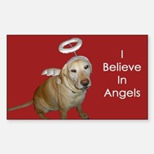I Believe In Angels Rectangle Decal